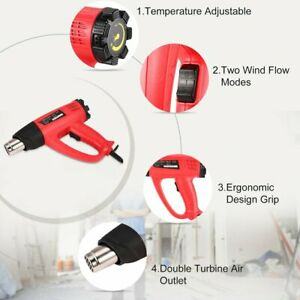 2000w Hot Air Gun Thermostat Heat Gun Heat Air Gun Blower Thermal Power Tool 0q
