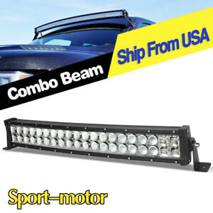 24inch Curved Led Work Light Bar Combo Bumper For Ford Truck 4x4 Offroad Atv 22