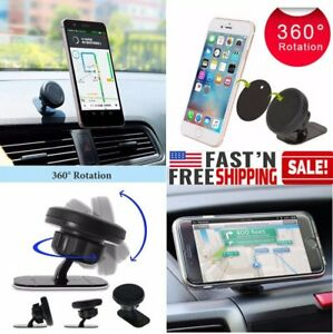 Universal 360 Magnetic Car Mount Holder Stand Dashboard For Cell Phone Iphone