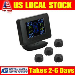 U906c Auto Wireless Tpms Tire Pressure Monitor System Lcd Display Car Charger