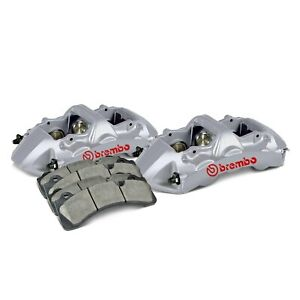 For Audi Rs3 17 19 Brembo 1n0 8502a3 Gt Series 6 Piston Silver Front Caliper Kit