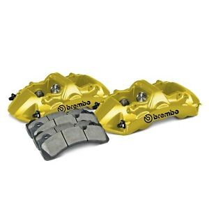 For Audi Rs3 17 19 Brembo 1n0 8502a5 Gt Series 6 piston Yellow Front Caliper Kit