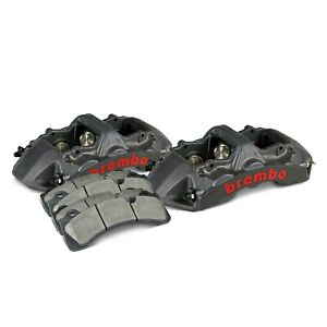 For Audi Rs3 17 19 Brembo Gt S Series 6 Piston Black Anodized Front Caliper Kit