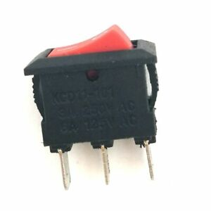 Industec Mini 10 X 15mm Rocker Switch Maintained 2 Pos 3 Pin 12v Spdt Red Boat