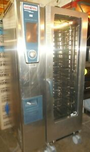 Used Rational scc We 201g Half size Combi Oven steamer Natural Gas