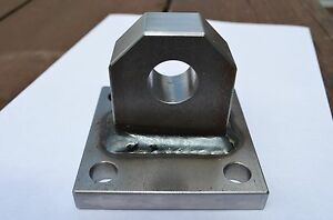 Single Bolt On Welded Shackle Mount Bumper Winch D ring Bolt Plate Clevis Tow