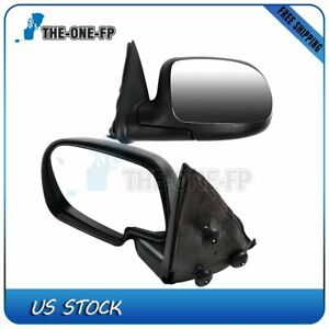 Fits 1999 2002 Chevy Gmc Truck Chrome Heated Power Side View Mirrors Lh rh Pair