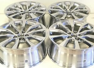 19 Inch Cadillac 4 Ct6 Xts Cts 08 19 Polished Rims Wheels Set 4775 Oem Factory