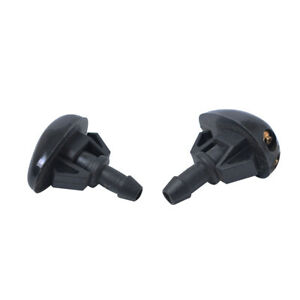 2x Car Windshield Sprayer Washer Wiper Nozzle Front Window Spray Black Nylon