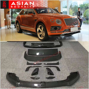 Carbon Body Kit For Bentley Bentayga 2015 Front Lip Rear Diffuser Trunk Spoler