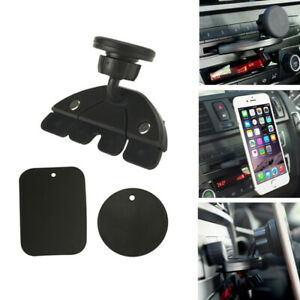 360 Car Holder Cd Slot Magnetic Holder Mount For Cell Phone Iphone Samsung Gps