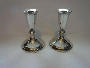 Antique Sterling Silver Weighted Candle Holders