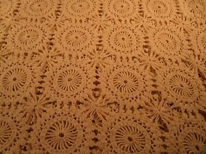 Antique Hand Crochet 44 Square Table Cover