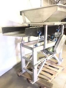 Vibrating Conveyor Food Shaker stainless 18 w X 45 long Self Powered 3 4hp