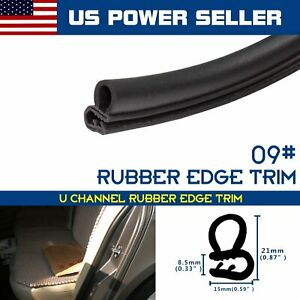 Auto Parts Black Rubber Seal Trim Weather Stripping Car Door Protector Edge 20ft