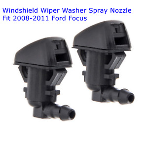 2 Pcs Windshield Wiper Washer Nozzle Spray Jets For Ford Focus 08 11 8s4z17603aa