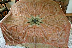 Beautiful Antique C1860 Wool Kasmir Paisley Shawl L 70 X W 70