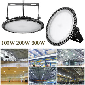 Led High Bay Industrial Light 100w 200w 300watt Daylight Super Bright Warehouse