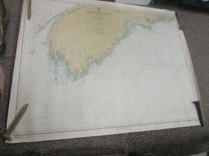 Vintage Navigational Chart Yarmouth To Halifax Nova Scotia 34 X 45 Map 8