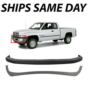 Brand New Front Bumper 2 Piece Combo Kit Set For 1994 2002 Ram 1500 2500 3500 Fits More Than One Vehicle