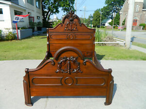 Sweet Walnut Victorian Bed Full Size Circa 1860