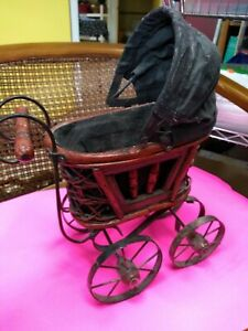 Baby Stroller Vintage Antique Doll Buggy Pram Carriage