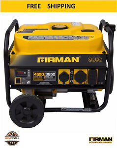 Firman 3602 Portable Generator 4550 Max Watts W Wheel Kit Professional Series
