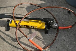 Enerpac P 39 Hydraulic Hand Pump 1 Speed 10 000 Psi W gauge And 10 Ft Hose