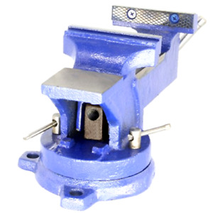 New Hfs Heavy Duty Bench Vise 360 Swivel Base With Lock Big Size Anvil Top 4