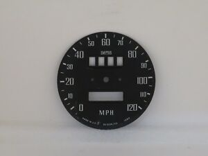 Speedometer Dial Face Plate 120mph Smiths Fits Mgb Non Overdrive Sn5226 03