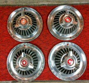 4 1964 Mercury Marauder Monterey Spinner Wheel Covers Hub Caps Hubcaps Ford