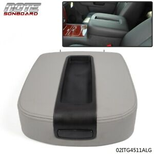 Front Center Console Armrest Lid Assembly Gray For Chevy Gmc Silverado Sierra