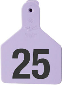 Z Tags Calf Ear Tags Purple Numbered 126 150