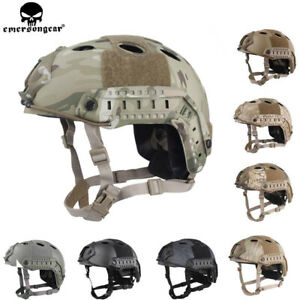 Emerson Tactical PJ Type Fast Helmet Advanced Adjustment w NVG Shroud Side Rail