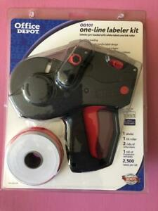 Office Depot One line Labeler Kit Od101 monarch 1131 Brand New Free Shipping