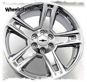 20 Inch Chrome 2016 Chevy Silverado 1500 Ltz Oe Replica 5664 Wheels Tahoe 6x5 5