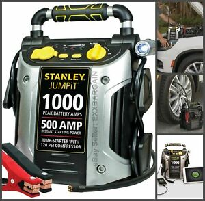 Jump Starter Battery Air Compressor Peak Portable Car Charger Booster Stanley