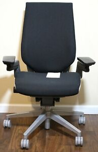 Steelcase Gesture Office Chair Black Fabric With Platinum Base new