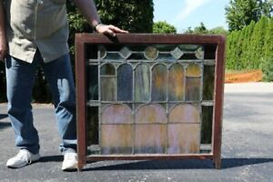 Pair Of Tiffany Stained Glass Windows