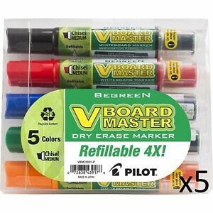 Pilot V Board Dry Erase Marker Medium Chisel Point Assorted 5 pack 5 Units