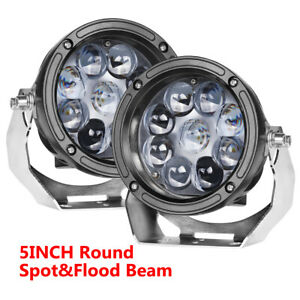 6in Led Round Work Lights Bar Headlights Spot Beam Fog Pods Offroad Super Bright