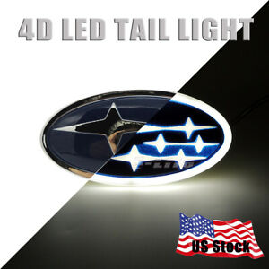 Car Led Tail Logo Badge Emblem Lights Subaru Forester Impreza Outback Legacy Xv