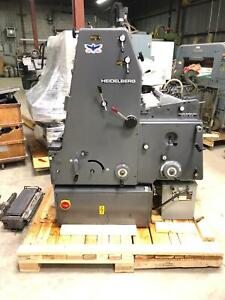 Printing Press 1983 Heidelberg Gto 46 1 color With Numbering Unit