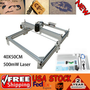 Cnc Router Blue Mini Laser Engraver Marking Mill Machine 500mw 12v 40x50cm Diy