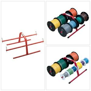 Wire Spool Caddy Cable Reel Holder Wires Rack Cables Storage Portable Organizer