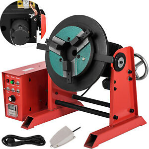 30kg Rotary Welding Positioner Turntable Timing 200mm Chuck Foot Switch 110 220v