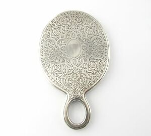 Tiffany Co Sterling Silver Hand Held Mirror Early 1900 S 5163