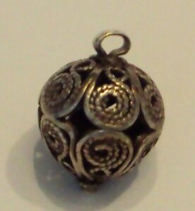 Amazing Post Medieval Silver Pendant With Filigree 477