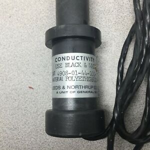 New No Box Leeds Conductivity Cell Tube Sawn Thru No Dammage To Wires 4908 01 44