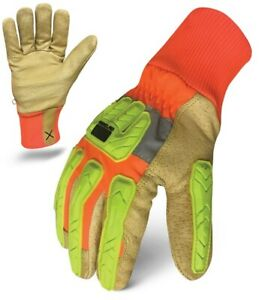 Ironclad Exo2 hvip5 Hi vis Insulated Leather Gloves Xl 1 Pair Free Shipping